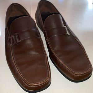 Salvatore Ferragamo Brown Leather Loafers Men's 11